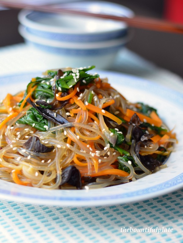 Korean glass noodles jap chae